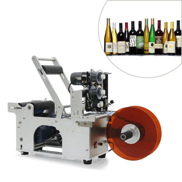 Okrągła maszyna do etykietowania butelek z drukarką kodującą MT-50M