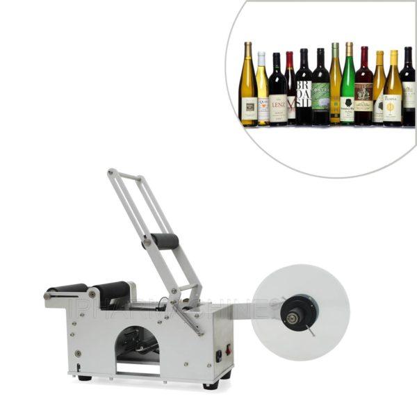 Półautomatyczna okrągła maszyna do etykietowania butelek MT-50